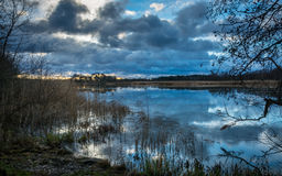 Cloudy skies at Svartsjö Royalty Free Stock Photo