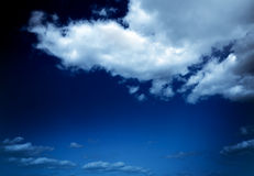 Cloudy skies in vintage style Royalty Free Stock Image