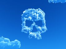 Cloudy skull Royalty Free Stock Photography