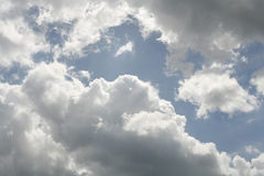 Cloudy sky. Blue and white Royalty Free Stock Image