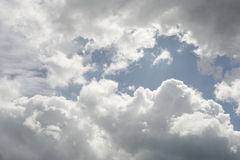 Cloudy sky. Blue and white Stock Photos