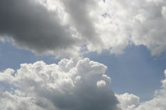 Cloudy sky. Blue and white Royalty Free Stock Photography