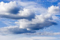 Cloudy sky. Cloudy blue sky Royalty Free Stock Photography