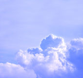 Cloudy sky. Sky with white puffy clouds - room for text royalty free stock image
