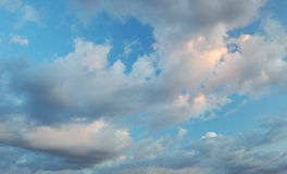 Cloudy sky. Evening sky with beautiful clouds Royalty Free Stock Image