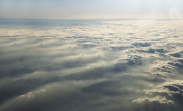 Cloudy sky. Photo of a cloud layer from the sky Stock Photo