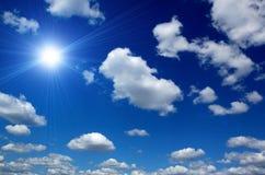 Cloudy sky. Cloudy blue sky as natural back ground Stock Photos