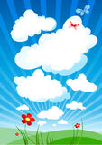 Cloudy sky. With space for text Royalty Free Stock Photo