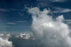 Cloudy sky. Pic taken from the plane stock images