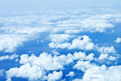 Cloudy sky. Aerial view of the cloudy sky Stock Images
