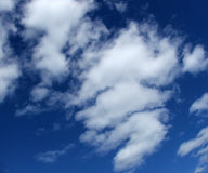 Cloudy sky. Clouds in blue sky royalty free stock image