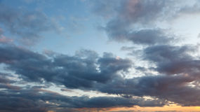 Cloudy sky. Image of cloudy sky at sunset Royalty Free Stock Image