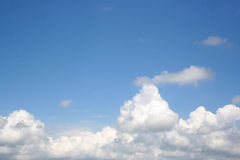 Cloudy Sky. Great shot of the sky above the clouds. Works great with copy.  Very clear Stock Photography