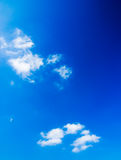 Cloudy sky. Blue cloudy sky (background, wallpaper Stock Photo