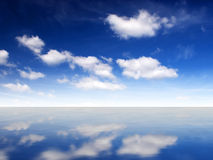 Cloudy sky. And ocean (can be use how background, wallpaper, texture Royalty Free Stock Images