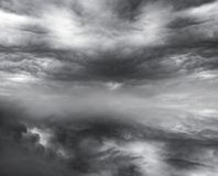 Cloudy sky. Dark ominous clouds. Dramatic sky background stock images