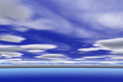 Cloudy sky. Blue cloudy sky  3d background Stock Photography