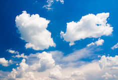Cloudy sky. Blue cloudy sky (can be used how background or wallpaper Stock Photography