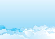 Cloudy sky. Vector blue horizontal background of cloudy sky Royalty Free Stock Photo