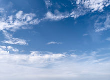 Cloudy Sky. Beautiful cloudy blue sky for background Royalty Free Stock Photo