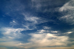Cloudy sky. Daytime Cirrus, Cirrocumulus ... clouds and blue sky, clouds texture Royalty Free Stock Photos