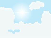 Cloudy sky. Vector illustration of cloudy sky Stock Photo