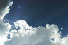 Cloudy Sky. Overcast, cloudy blue sky before the rain Stock Image