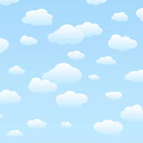 Cloudy sky. Vector illustration of a blue and cloudy sky Royalty Free Stock Photo