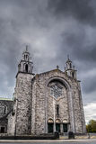 Cloudy sky above a church Royalty Free Stock Photos