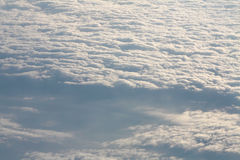 Cloudy sky from above Stock Photography