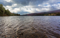 Cloudy sky above Wyman Lake in Maine Royalty Free Stock Photos