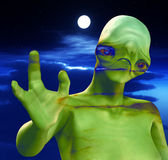 Cloudy Sky And Alien 3 Stock Images