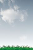 Cloudy Sky And Grass Royalty Free Stock Image