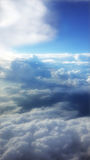Cloudy Sky Ariel View Royalty Free Stock Photo