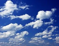 Cloudy sky background Stock Photography