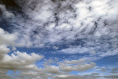 Cloudy sky background Stock Photos