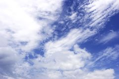 Cloudy sky background. Blue sky background Royalty Free Stock Photo