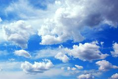 Cloudy sky background Royalty Free Stock Images