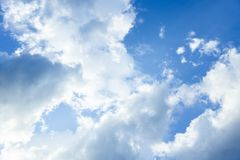 Cloudy sky background , blue sky on the day Stock Images