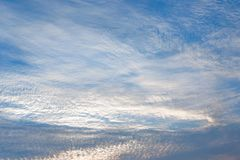 Cloudy sky background with pastel colors, romantic dreaming con royalty free stock image