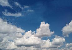 Cloudy sky background before strom. Start Royalty Free Stock Photo