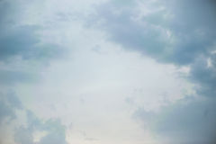 Cloudy sky. Background on the sunset Stock Image