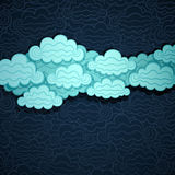 Cloudy Sky Banner Royalty Free Stock Photography