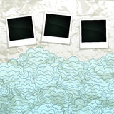 Cloudy Sky Banner Royalty Free Stock Images