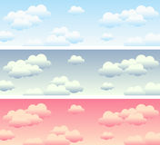 Cloudy Sky Banners stock illustration