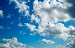 Cloudy Sky. Beautiful cloudy sky can be used as background Stock Photos