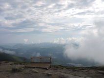 Cloudy sky. Beautiful view from the Sphinx, Romania Stock Image