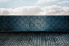 Cloudy sky beyond balcony Royalty Free Stock Image
