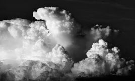 Cloudy sky. Black and white photography of cloudy sky in sunset Royalty Free Stock Photography