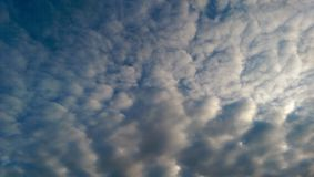 Cloudy sky. Blue cloudy sky stock images